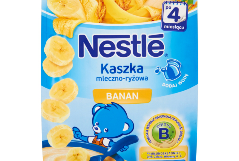kaszka mleczno ryżowa Nestle banan